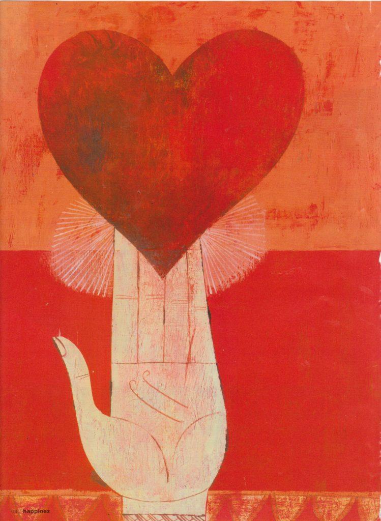 Reiki uitgebeeld als liefde